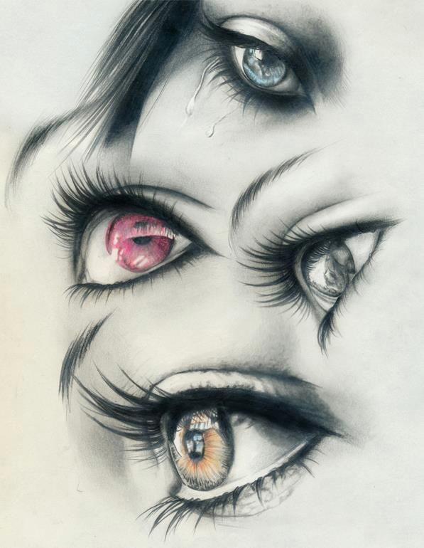 colored eyes art