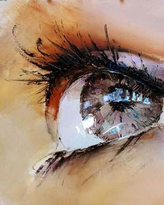 close up sad eyes art painting images photos pictures