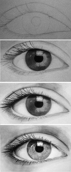 ojos reflejo more eye drawings