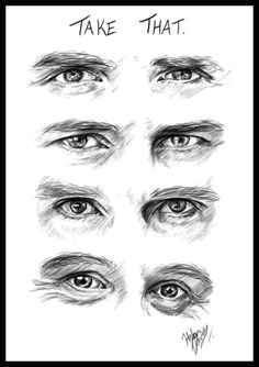 the eyes of take that digital drawing can you tell who s who