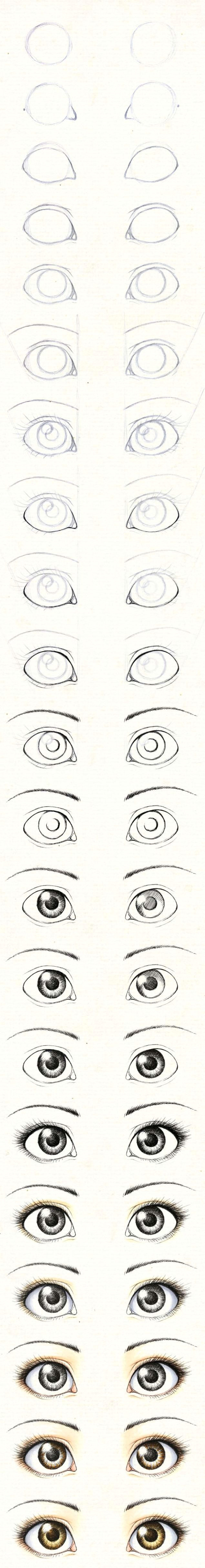 how to draw eye balls