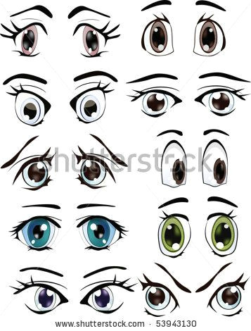 the complete set of the drawn eyes by liusa via shutterstock