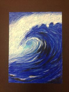 with tons of textures would be cool why ride waves when you can paint them oil pastel studies of waves