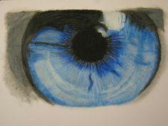 eye oil pastels