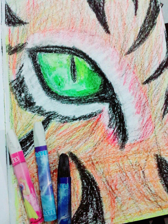 loin eye oil pastel drawing a oil pastel