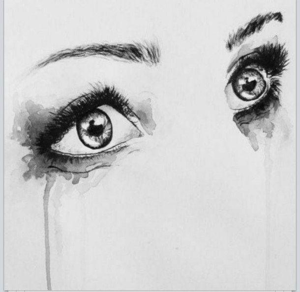 my mascara is running watercolor eyes watercolor paintings watercolours grande arte eye