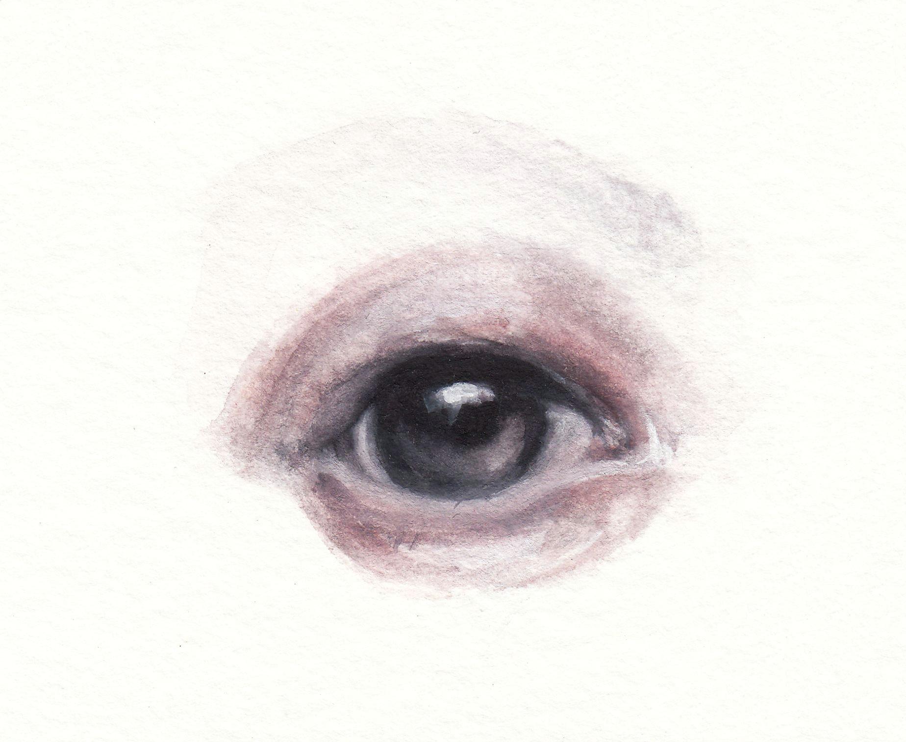 watercolor aquarelle eyes beauty makeup portrait fashion illustration