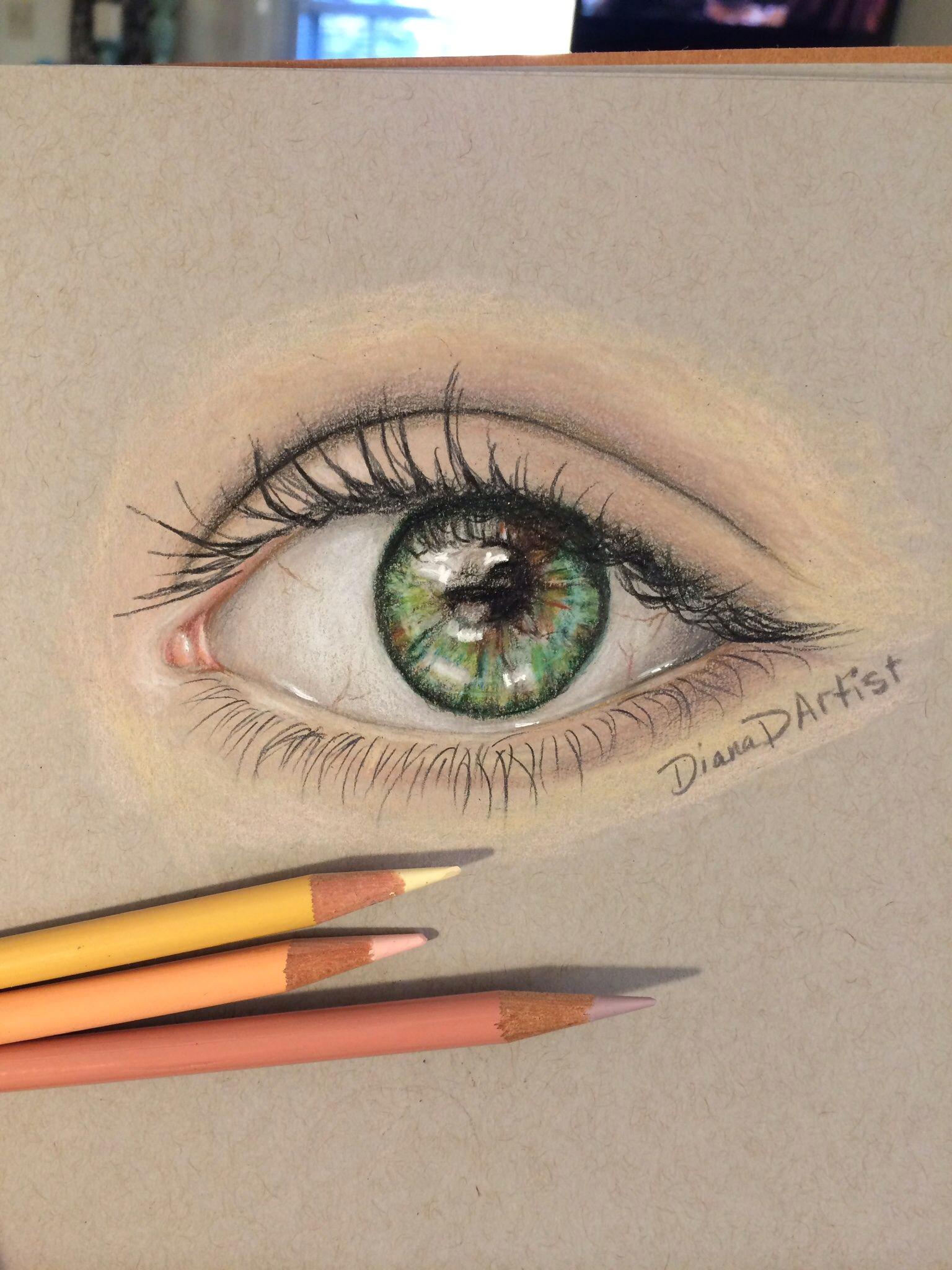 colored pencil eye study www overcomersart com dianadartist instagram