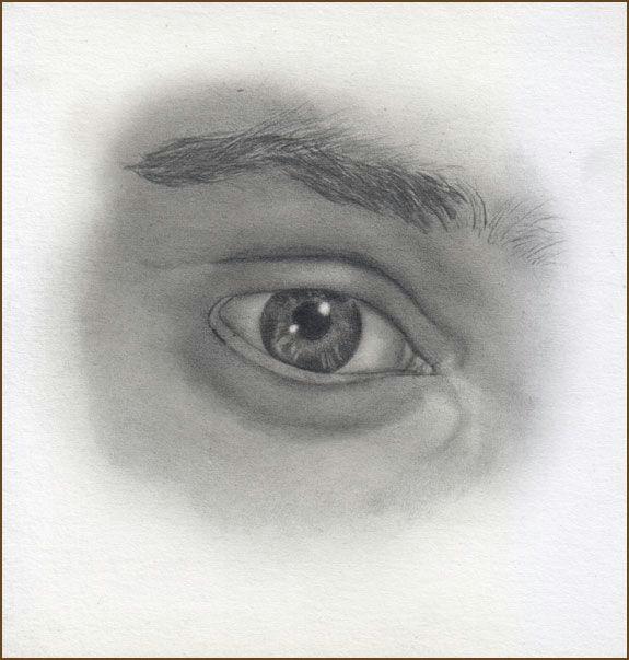 male eye pencil drawing tutorial step 11