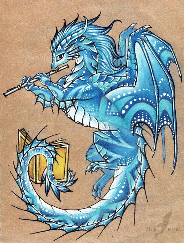 silver flute of winter by alviaalcedo deviantart com on deviantart cute dragons