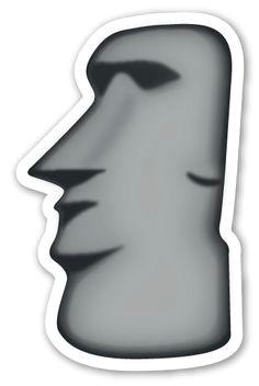 moyai emoji stickers