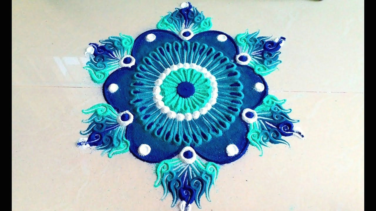 how to draw simple unique and easy rangoli designs with colours beautiful kolam muggulu