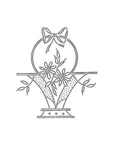flower basket 1 embroidery pattern floral embroidery patterns cute embroidery sewing machine embroidery