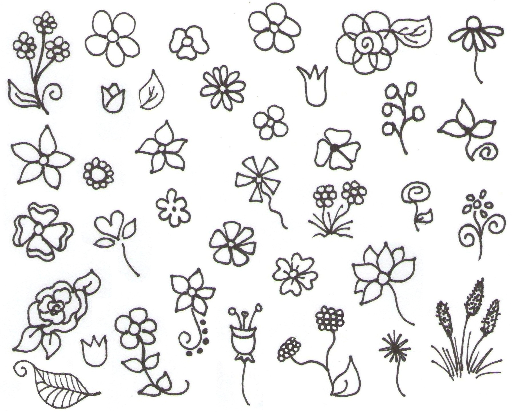 my inspiration flower doodles more