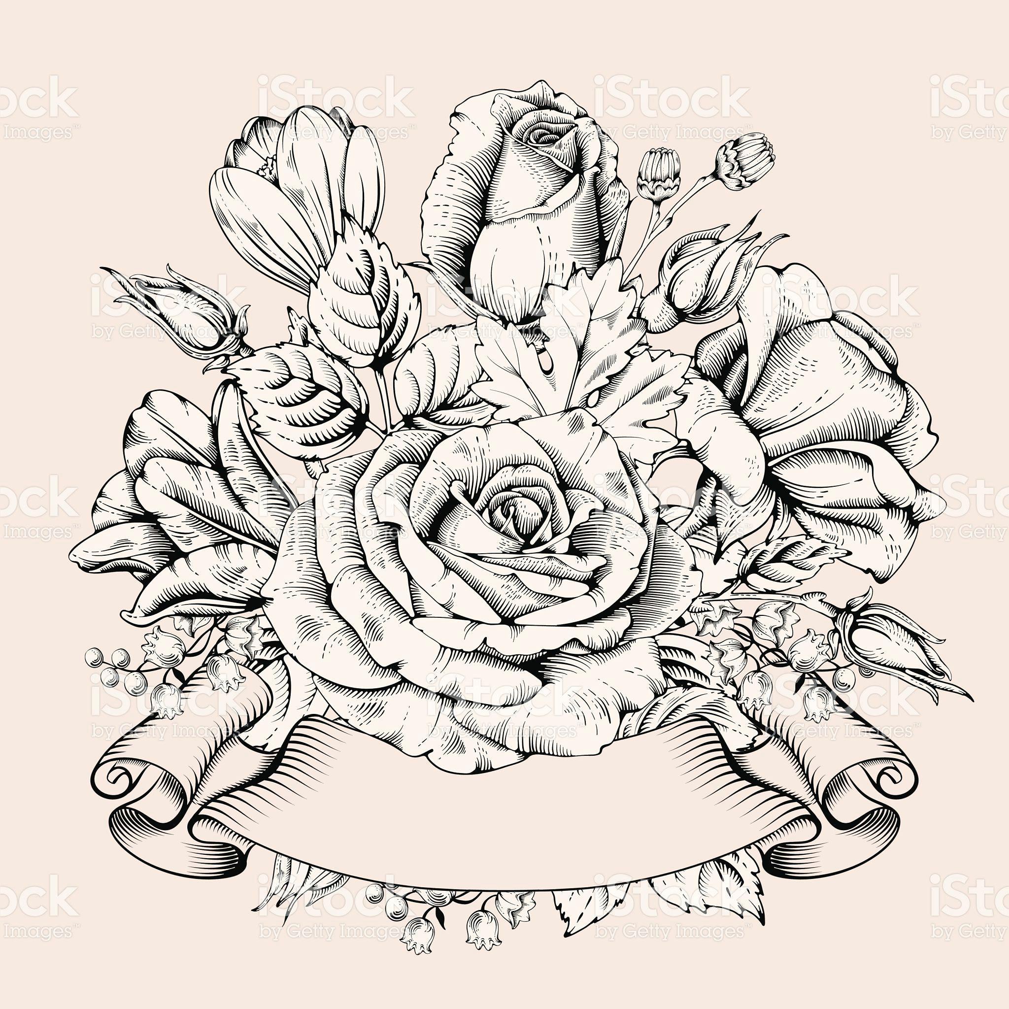 luxury rose royalty free stock vector art luxury card hand drawn flowers rose