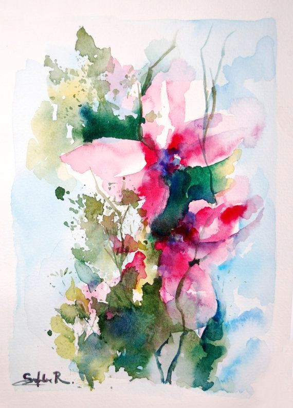 a e a abstract drawing flowers and watercolor painting flowers i pinimg 1200x 83 19 0d de9f1a4ab