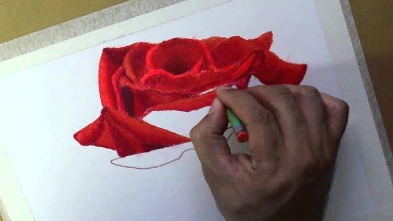 how to draw flowers oil pastels rose oleo pastel flores rosa pastel a oleo mas