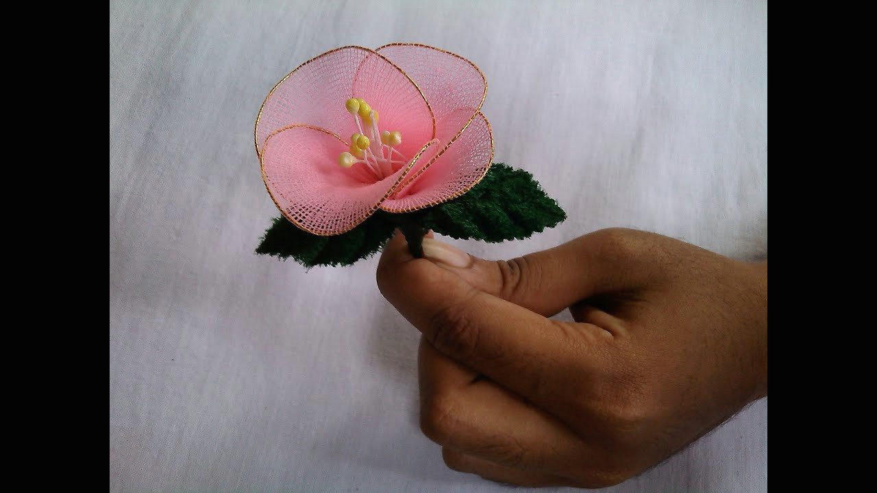 fabric craft flower making socks flowers