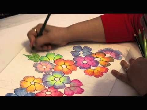 Drawing Flowers with Colored Pencils Gradient Flowers Color Pencil Tutorial Youtube Art Stuff