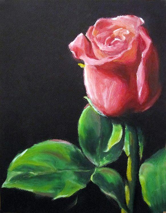 oil pastel paintings oil pastels flower valentine rose eric d greene