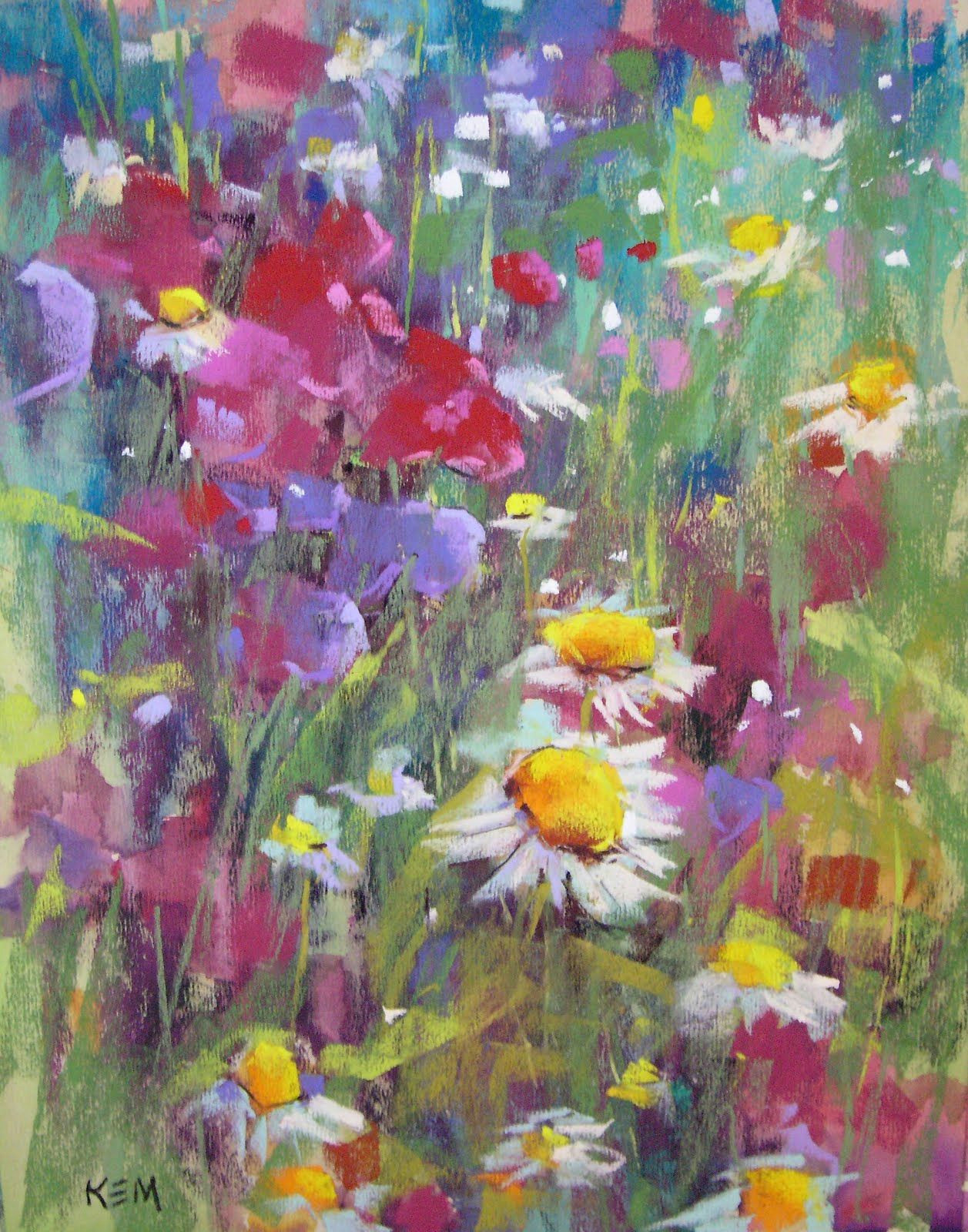 pastel painting flowers kem studios