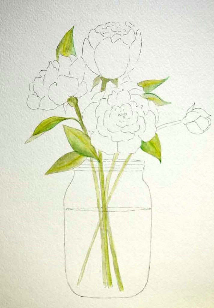 how to paint peonies how to watercolor simple watercolor paintings simple watercolor flowers
