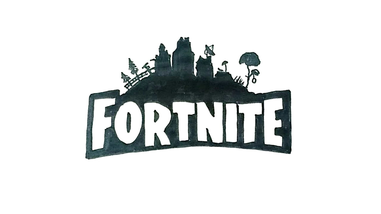 how to draw the fortnite logo