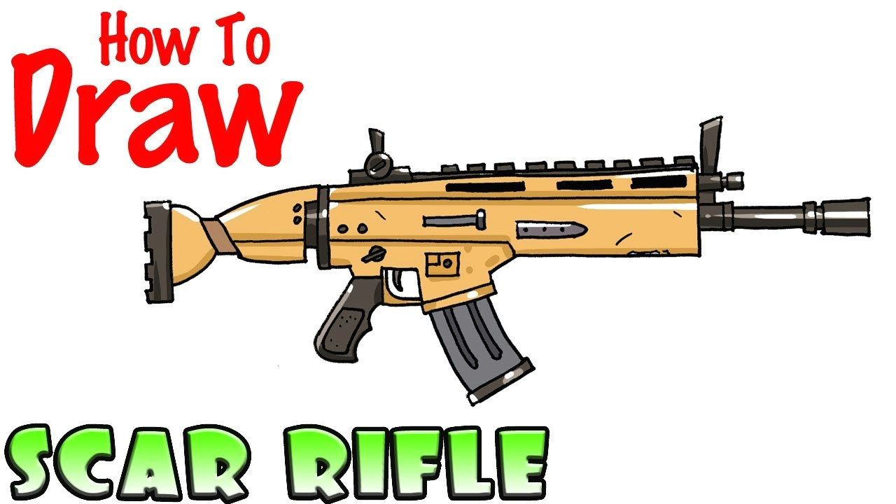 how to draw the scar rifle fortnite