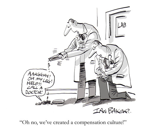 cartoon compensation culture medium by ian baker tagged gag cartoon magazine