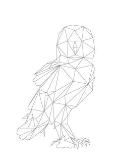geometric animal lines google search geometric bird geometric owl tattoo geometric drawing