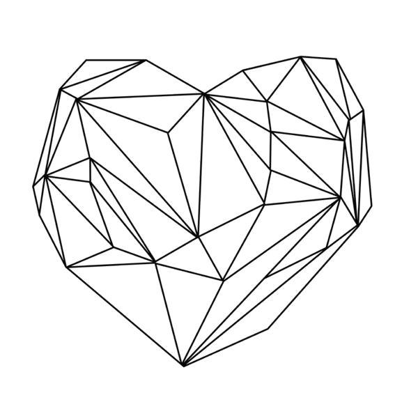 heart graphic black on white canvas print nyc apt pinterest ilustraa a o desenhos and quadros
