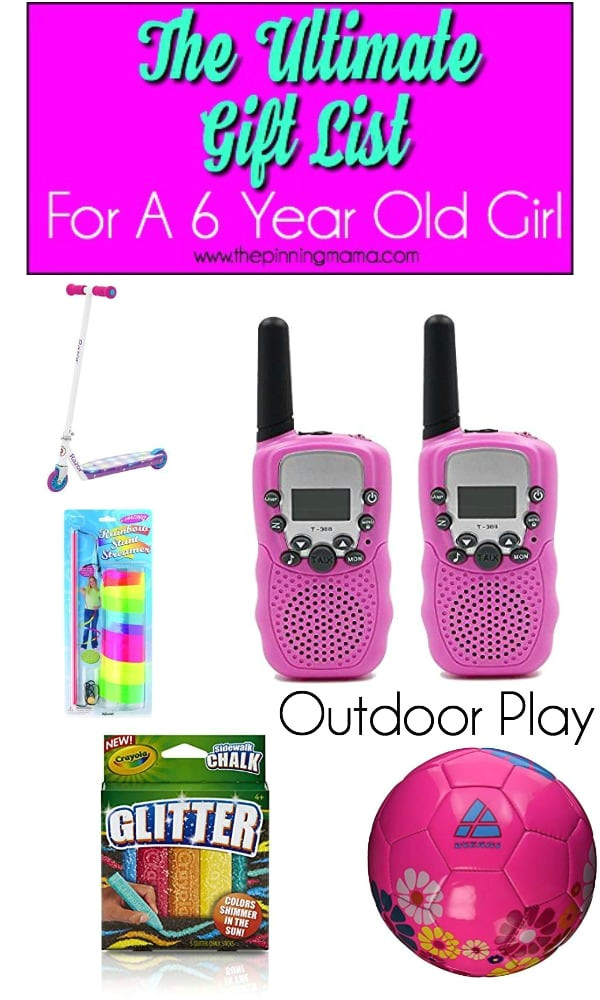 giant list of outdoor gift ideas for a 6 year old girls outdoor play