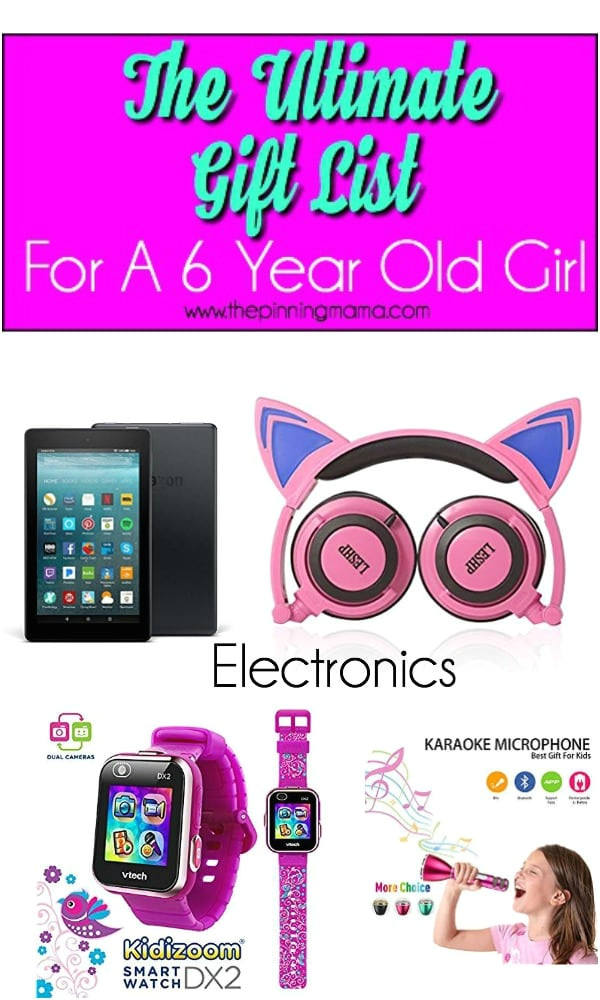 ultimate list of gift ideas for a 6 year old girl in the electronic section