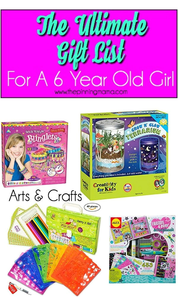 gift ideas for a 6 year old girl arts crafts