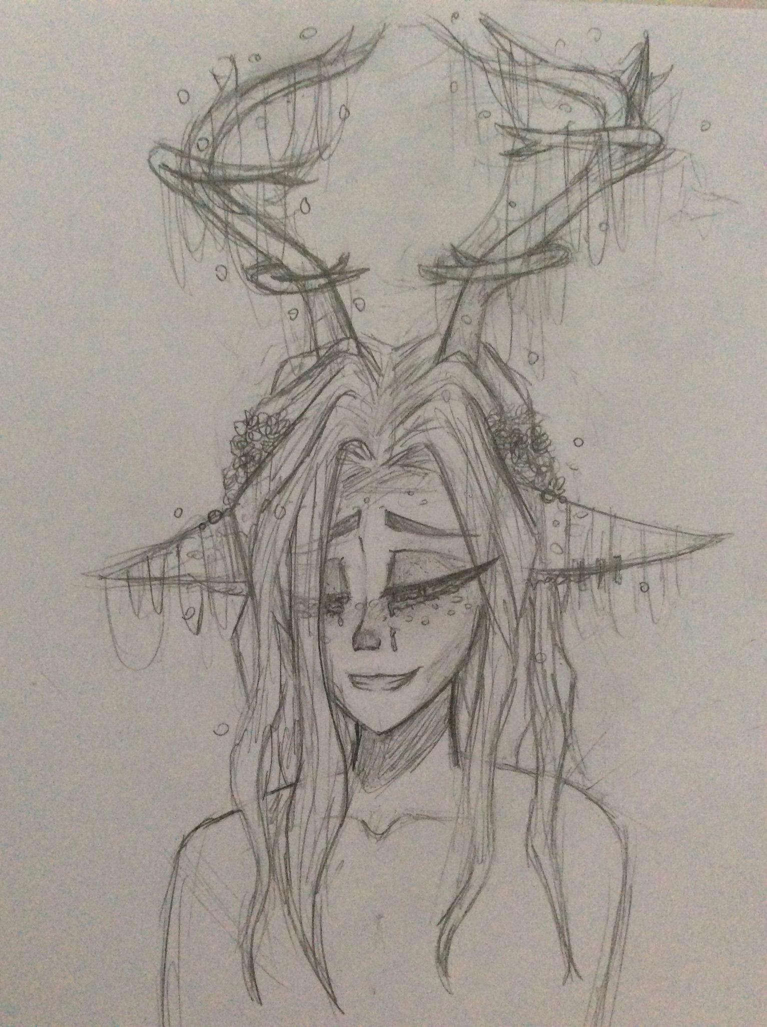Drawing Girl Deer Deer Girl Drawing Drawings Pinterest Drawings My Drawings and
