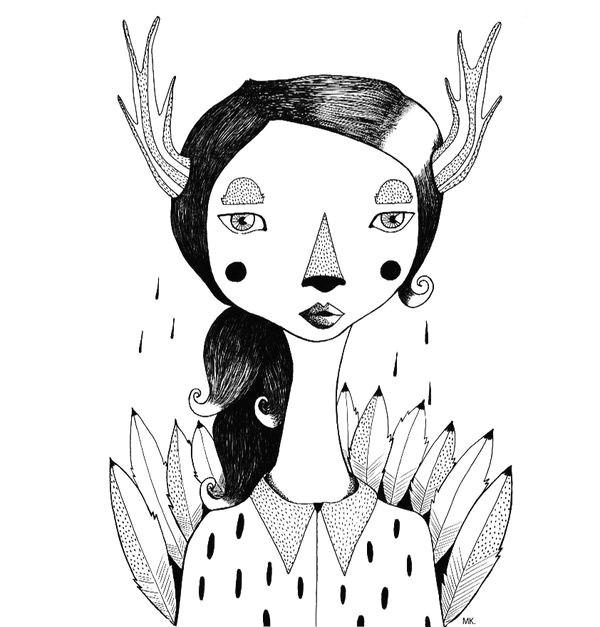 mujer ciervo antlers little girls deer woman horns