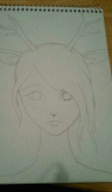 start of a deer girl hybrid sketch drawn by flutterquake