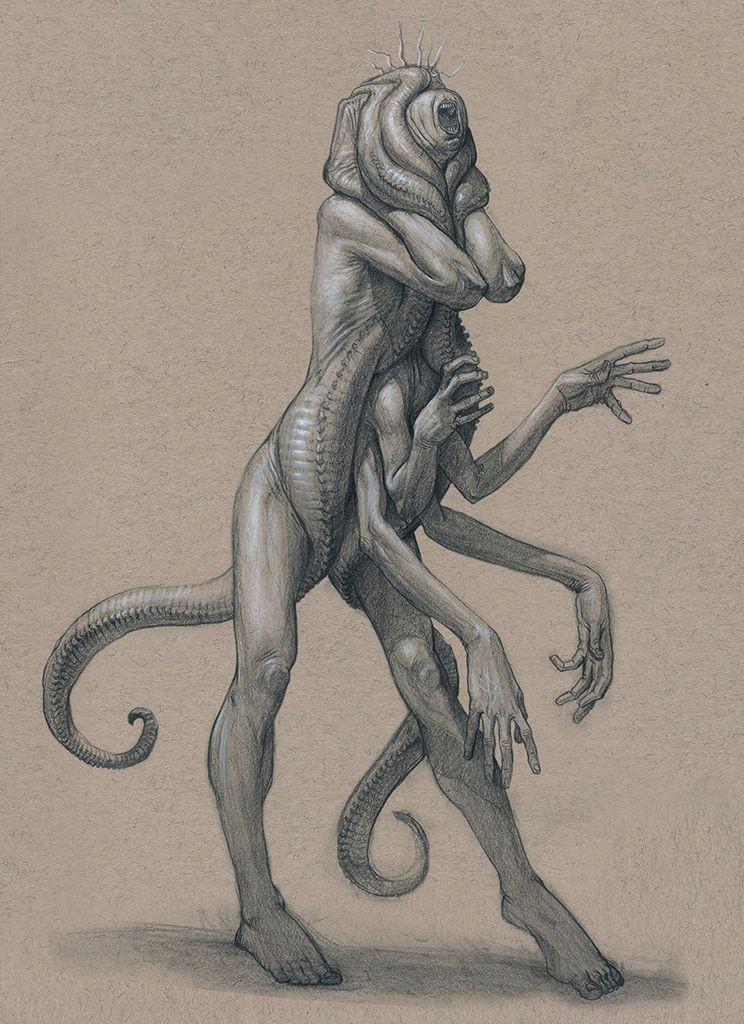 amalgam worm by mavros thanatos female demon devil monster beast creature animal