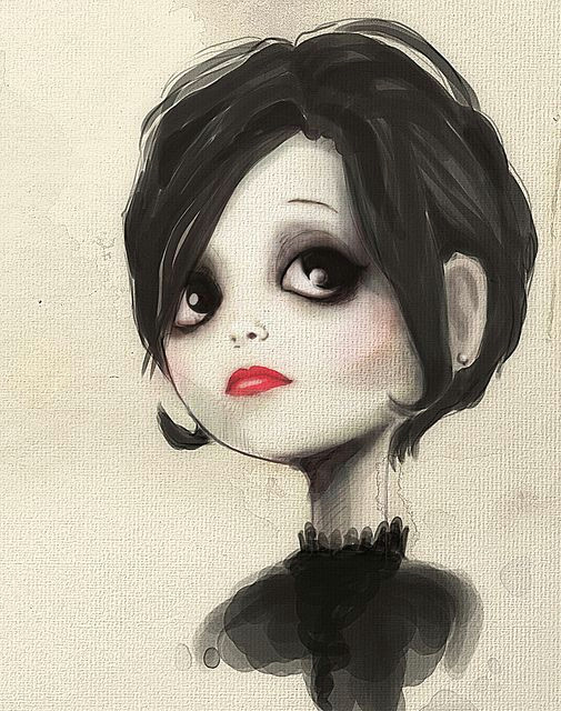 that could almost be me but with blue eyes and not quite that goth