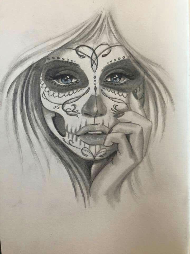 mask face gypsy tattoos girl tattoos sugar skull girl sugar skulls tribal