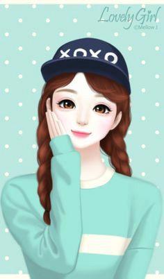 girl cute girl drawing cute drawings girls image lovely girl image korean