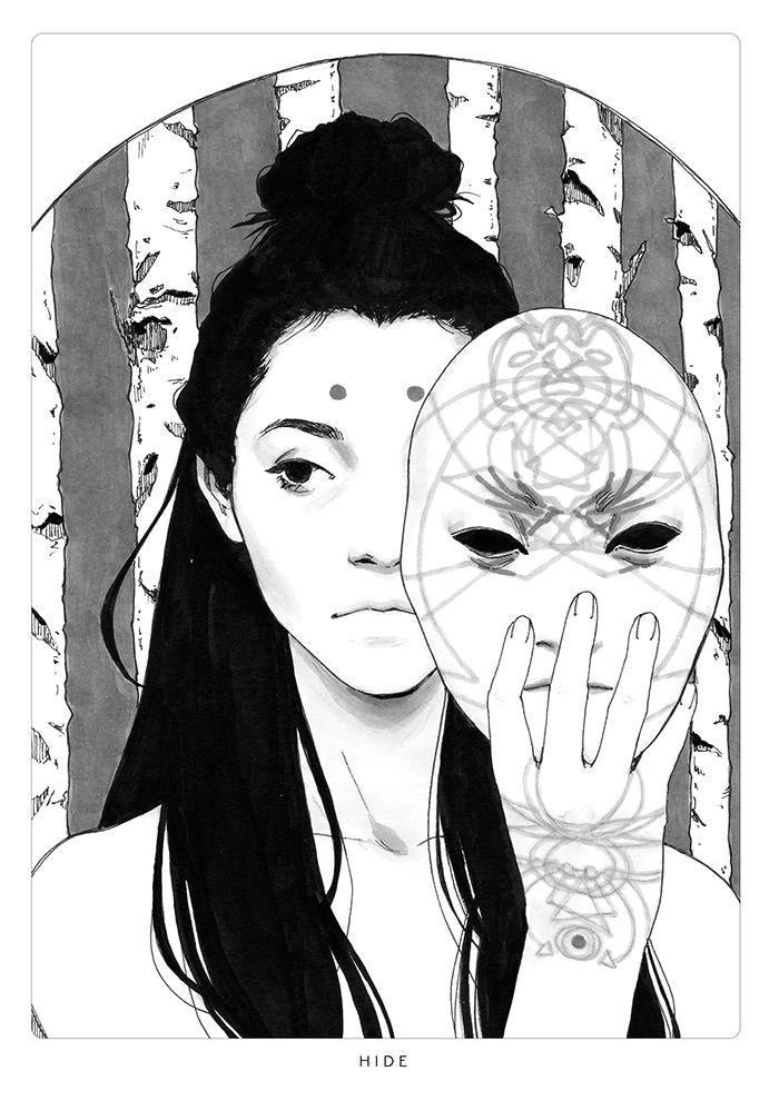 djamila knopf hide art reference ink illustrations illustration art cartoon drawings