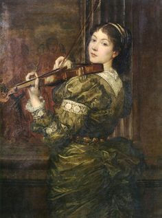 blanche lady lindsay playing the violin george frederic watts 1877