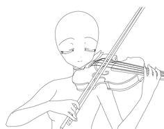 anime girl playing violin how to draw manga anime drawing base