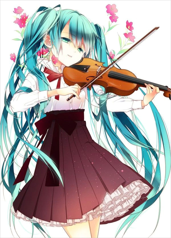 i absolutely love the violin and seeing a vocaloid character playing it just makes my day