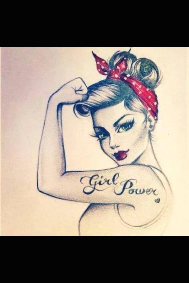 Drawing Girl Power Girl Power Cute Tattoo Idea Zoe Pinterest Draw Tattoos