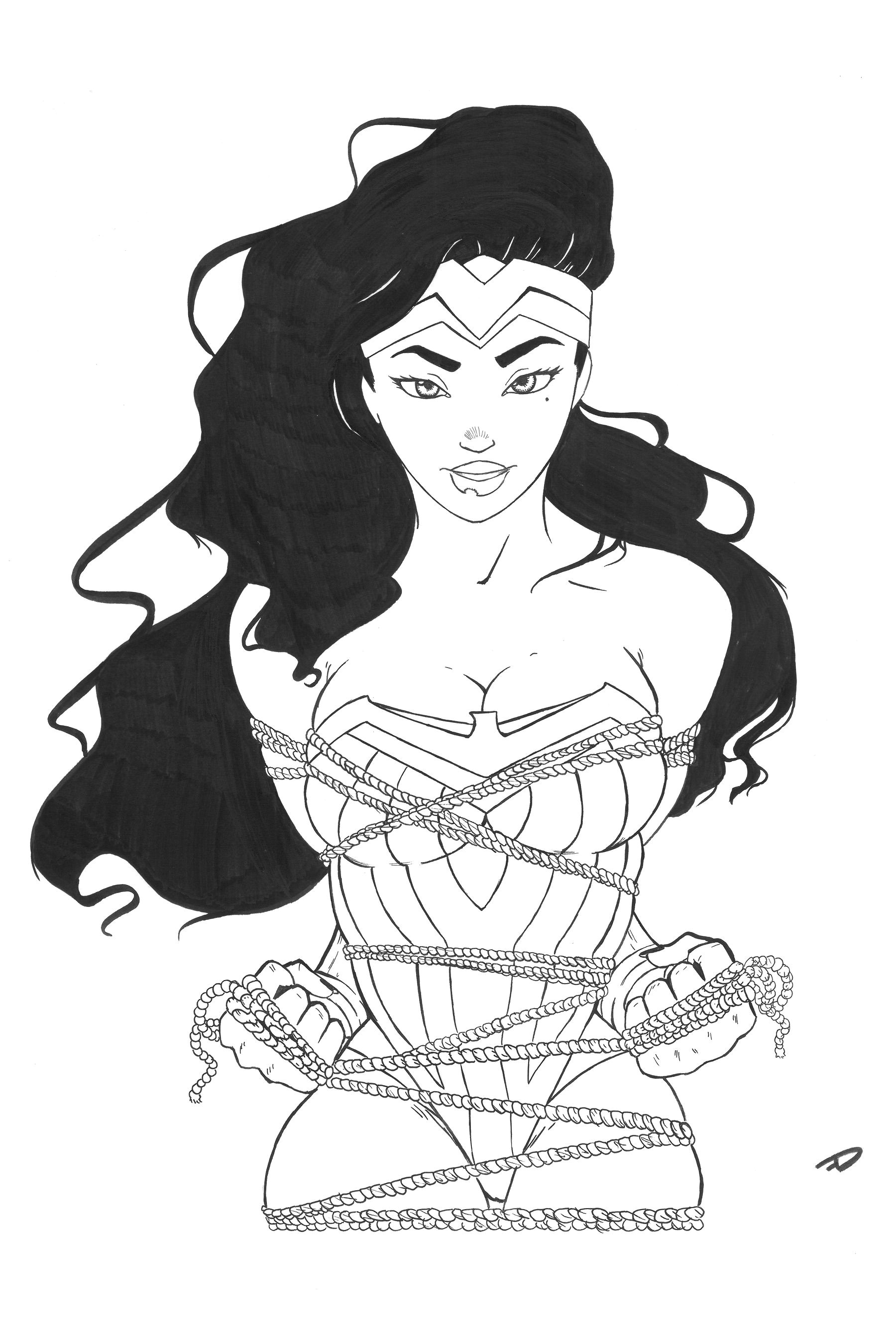goddess of truth taking girl power to a new level 12x18 glossy cardstock poster print original sketch by don farina a k a the insomniartist