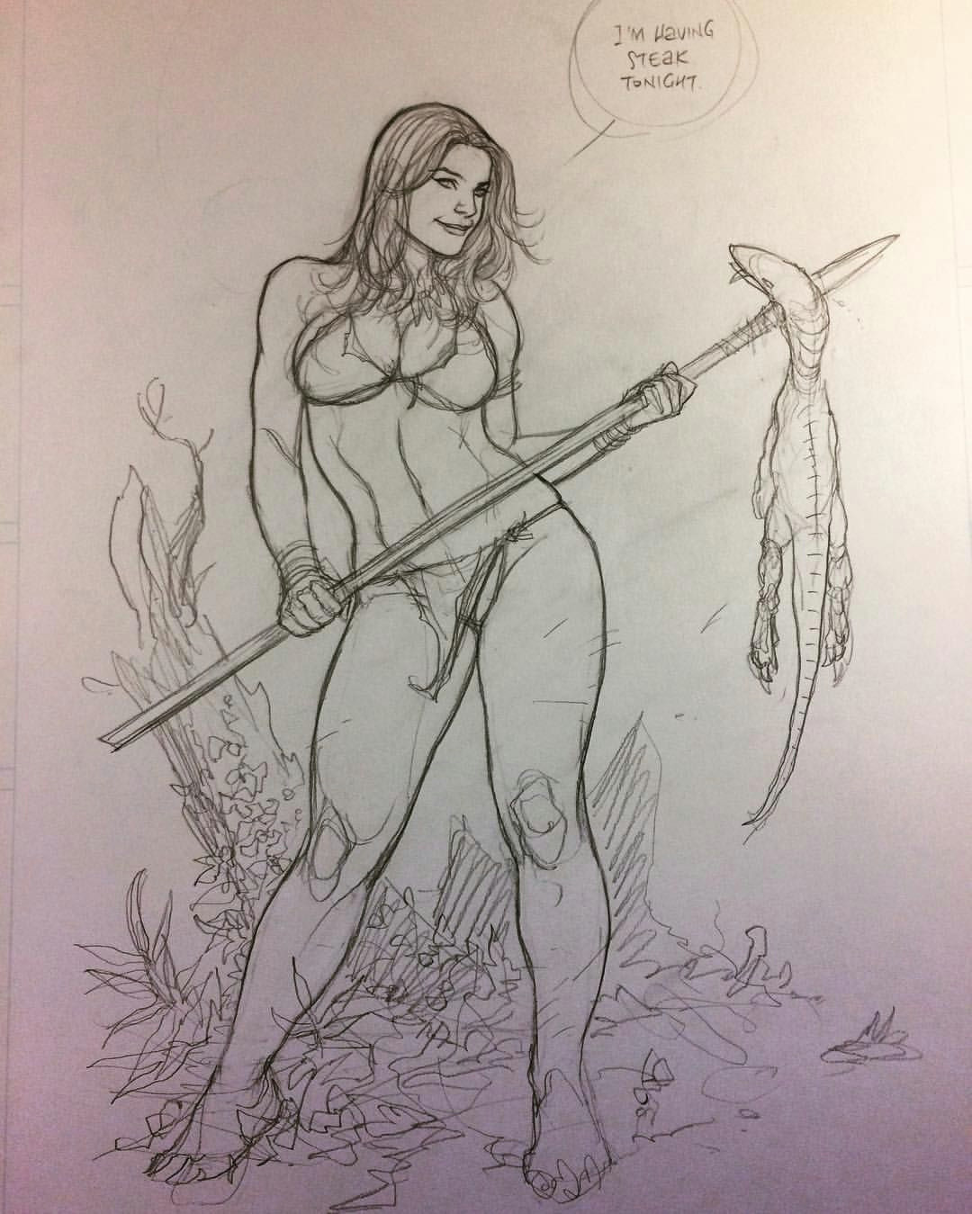 jungle girl by frank cho