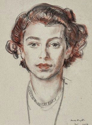 girlish beauty the rare sketch shows the queen then a princess at 23 the queen right said she fondly remembered sitting for the artist