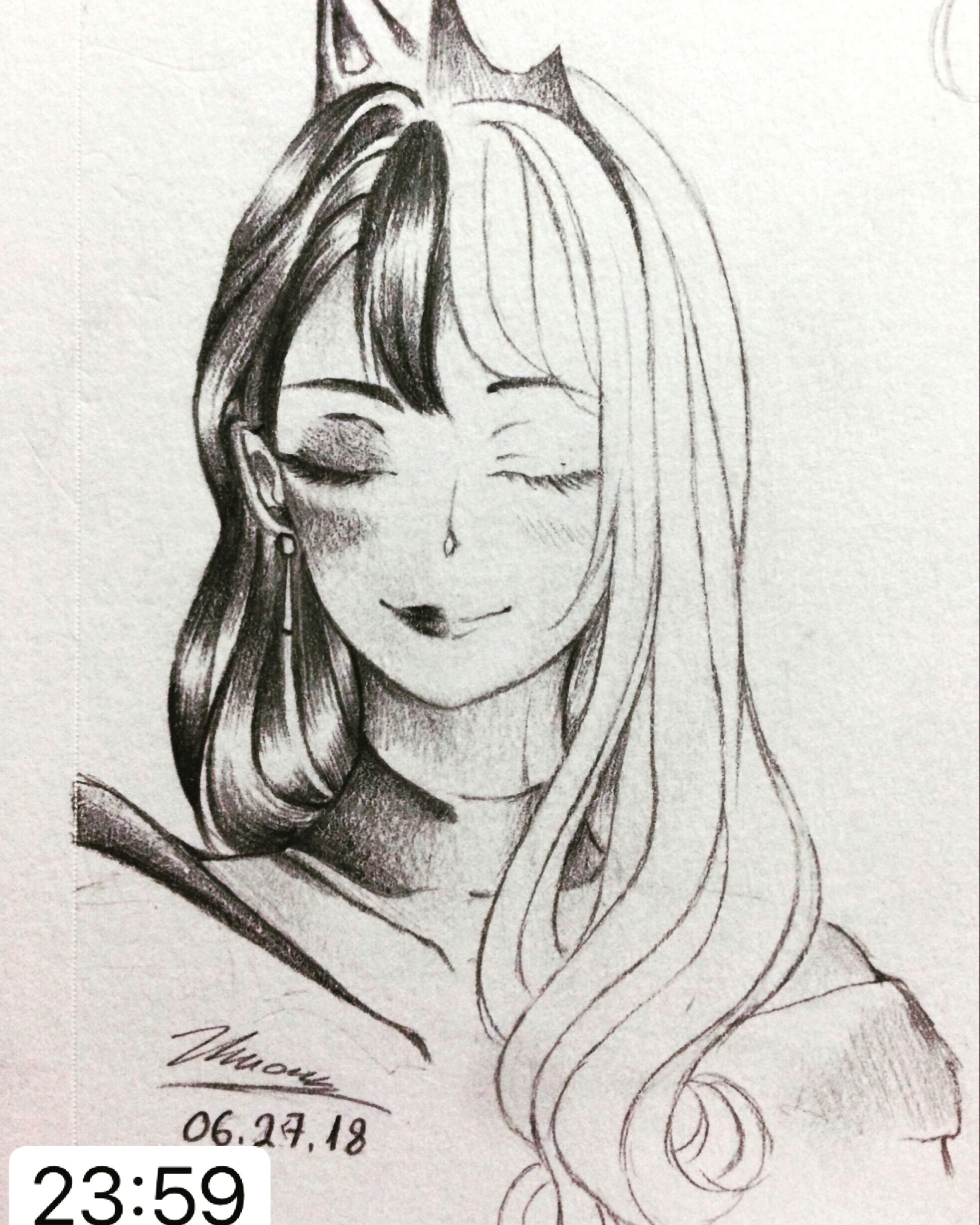 Drawing Girl Queen Queen Princess Anime Girl Sleep My Artbook Pinterest Girl